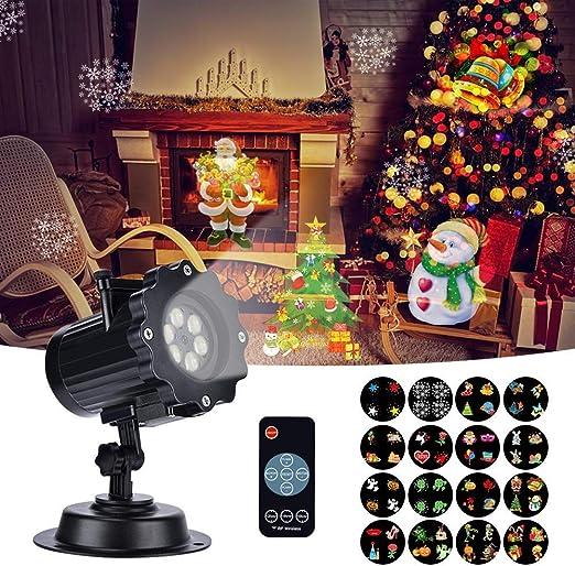 Proyector de Luces de Navidad, Proyector Navidad con Control ...