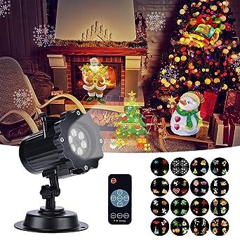 Ab Wann Macht Man Die Weihnachtsbeleuchtung An.Led Projektionslampe Weihnachtsbeleuchtung Effektlicht Projektor Mit 16 Stücke Umschaltbare Muster Und Fernbedienung Innen Und Außen Dekoration