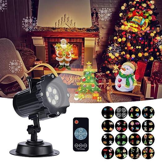 Proiettore Luci Natalizie Led.Proiettore Luci Natale Led Esterno Proiettore Con 16 Lenti Intercambiabili 5 Modalita Telecomando Rf Impermeabile Projector Lampada Per Natale