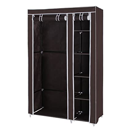 Amazon Songmics 43 Portable Clothes Closet Wardrobe With Non