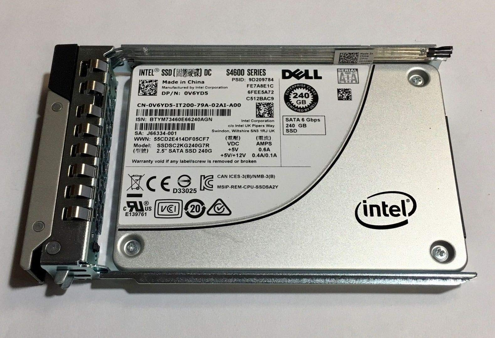 SSD 240GB SATA Intel 240GB 2.5 6Gb/s Model: SC2KG240G7R DP/N