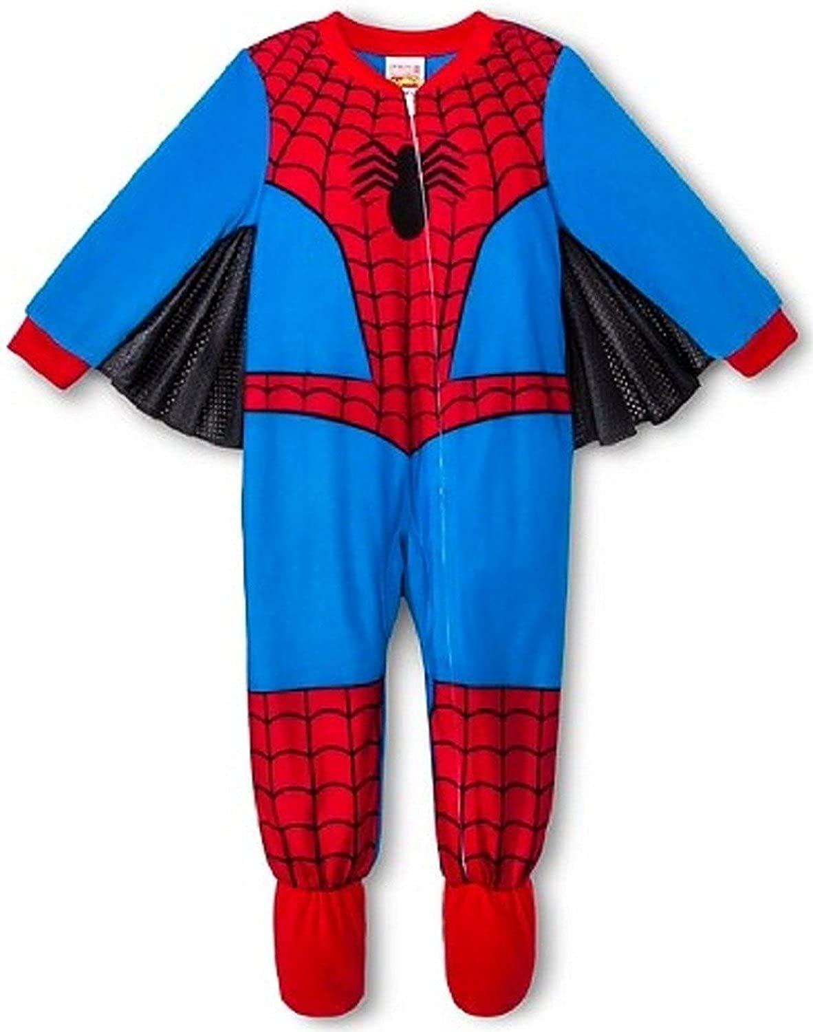 Marvel Spiderman Toddler Boy Footed Blanket Pajama