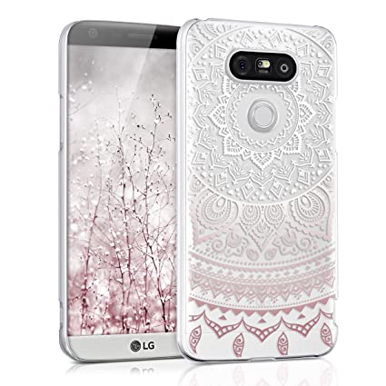 new arrivals 8f348 f18f6 kwmobile Crystal Case for LG G5 / G5 SE with Design Indian sun -  transparent Protection Case Cover clear in light pink white transparent
