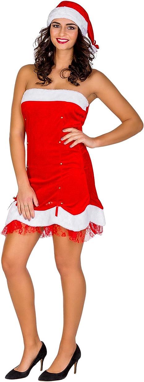 TecTake dressforfun Disfraz navideño Santa Claus para Mujer ...