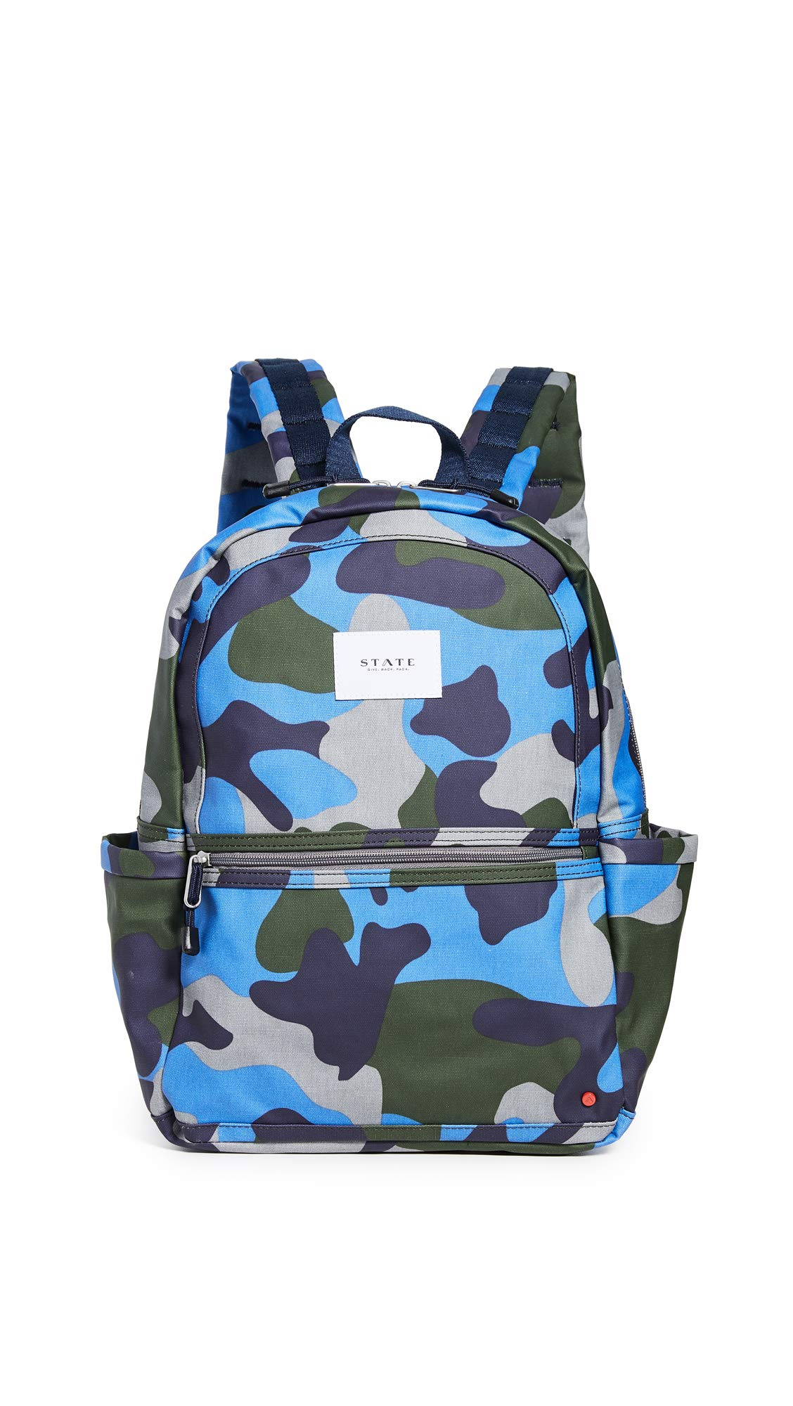 STATE Women's Kane Backpack, Camo, Blue, Print, One Size by STATE Bags