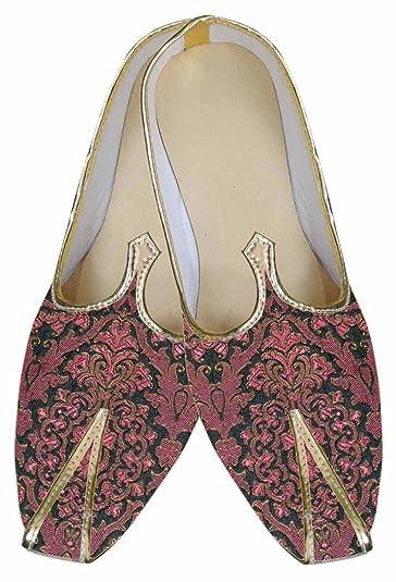 INMONARCH Hommes Chaussures de Mariage Indien Bordeaux MJ0080S5 37 Bourgogne 2hM0Z