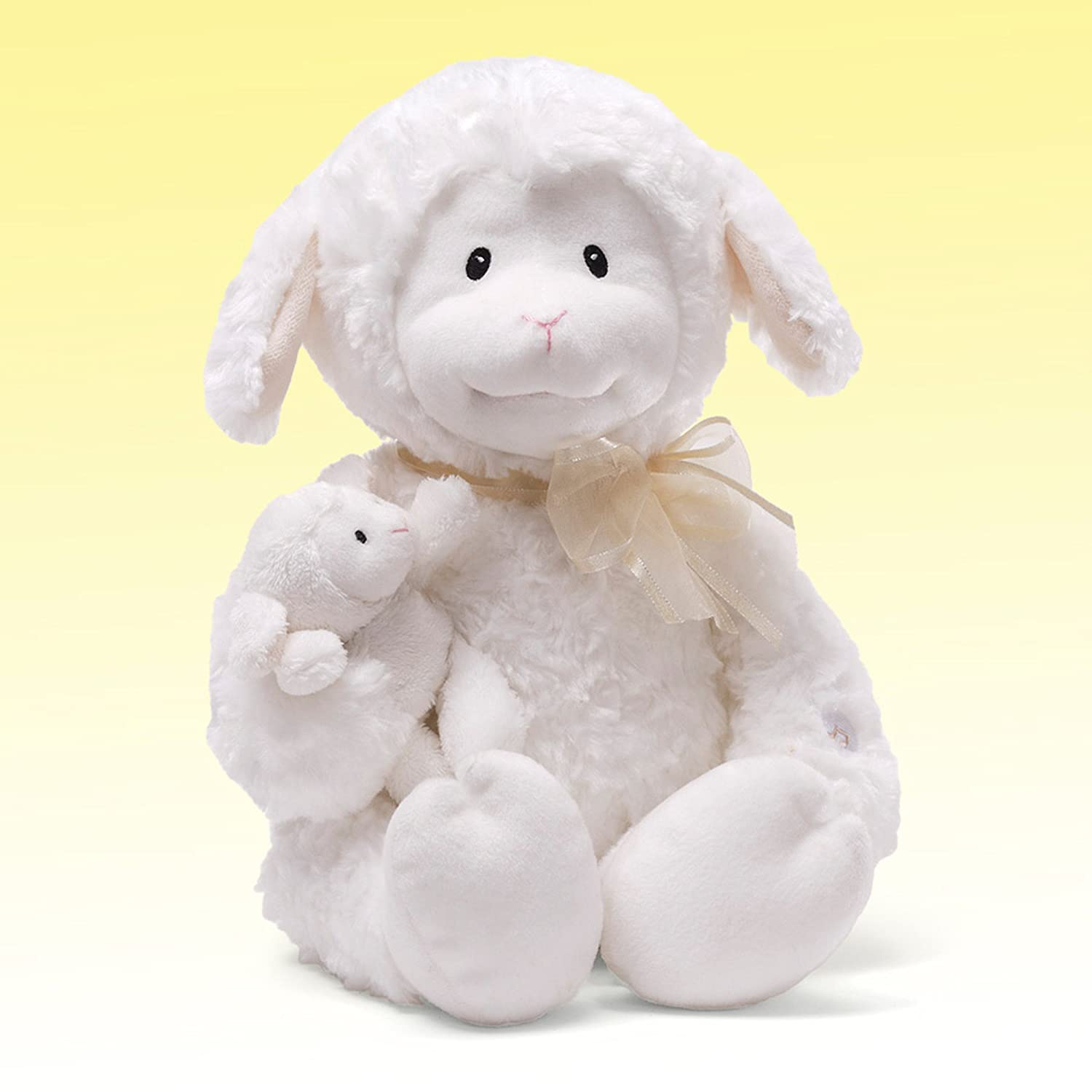 Amazon Com Gund Nursery Rhyme Time Lamb Animated Stuffed Animal