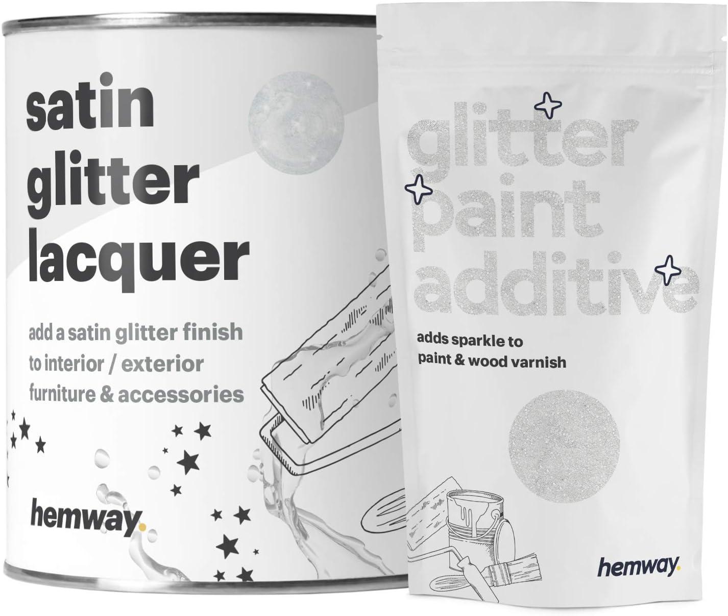 Hemway - Barniz brillante transparente para interiores y exteriores - Secado rápido - Acabado satinado - 1 l