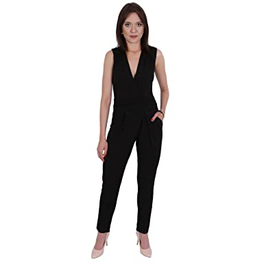 b2395053f9 John Zack ASOS Women s Jumpsuit Black Black  Amazon.co.uk  Clothing