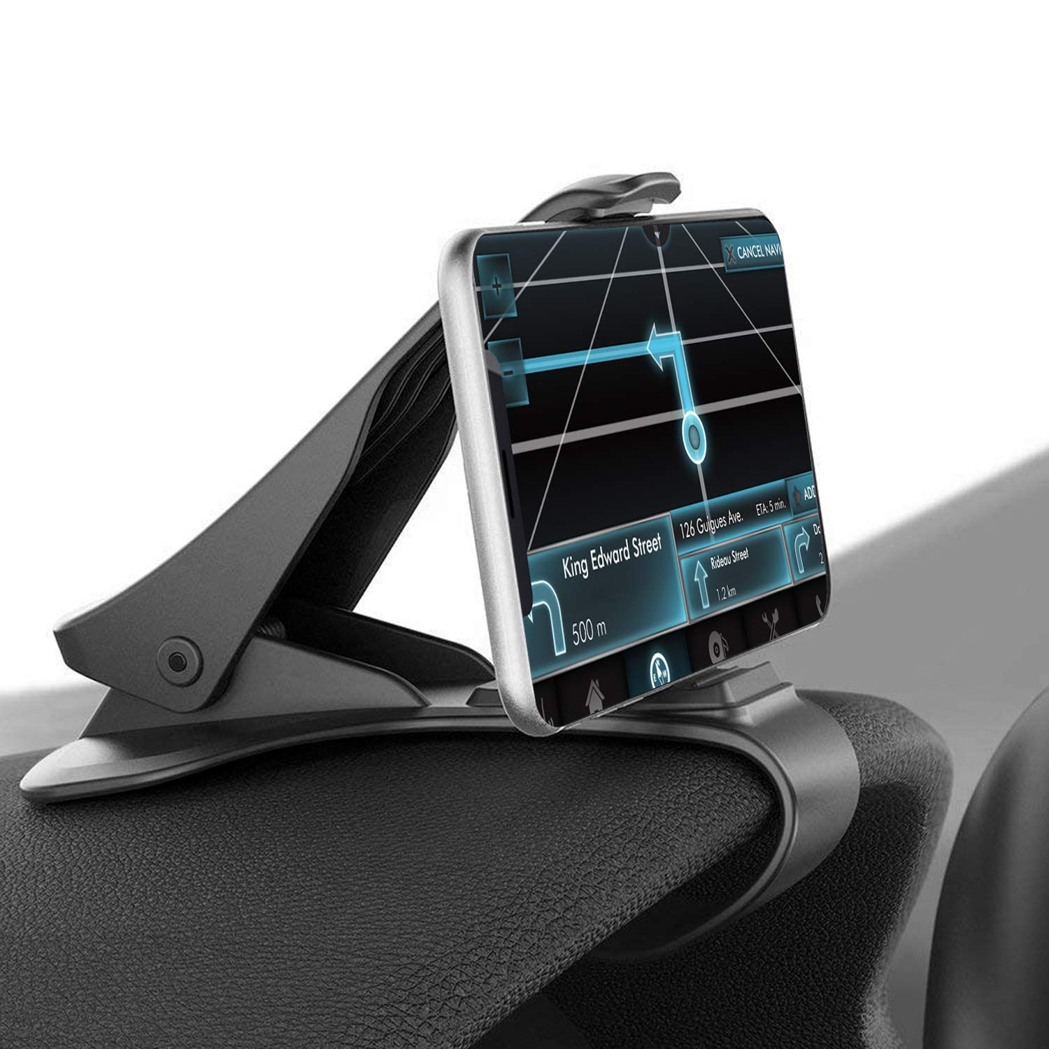 Car Phone Holder Mount, Kamisafe Car HUD Dashboard Cellphone Holder Cradle Mobile Clip Stand Compatible for iPhone Xs X 8 7 Plus Samsung S9 S8 Plus Note 9 Google Huawei Other 3.5-6.5 Inches Smartphone