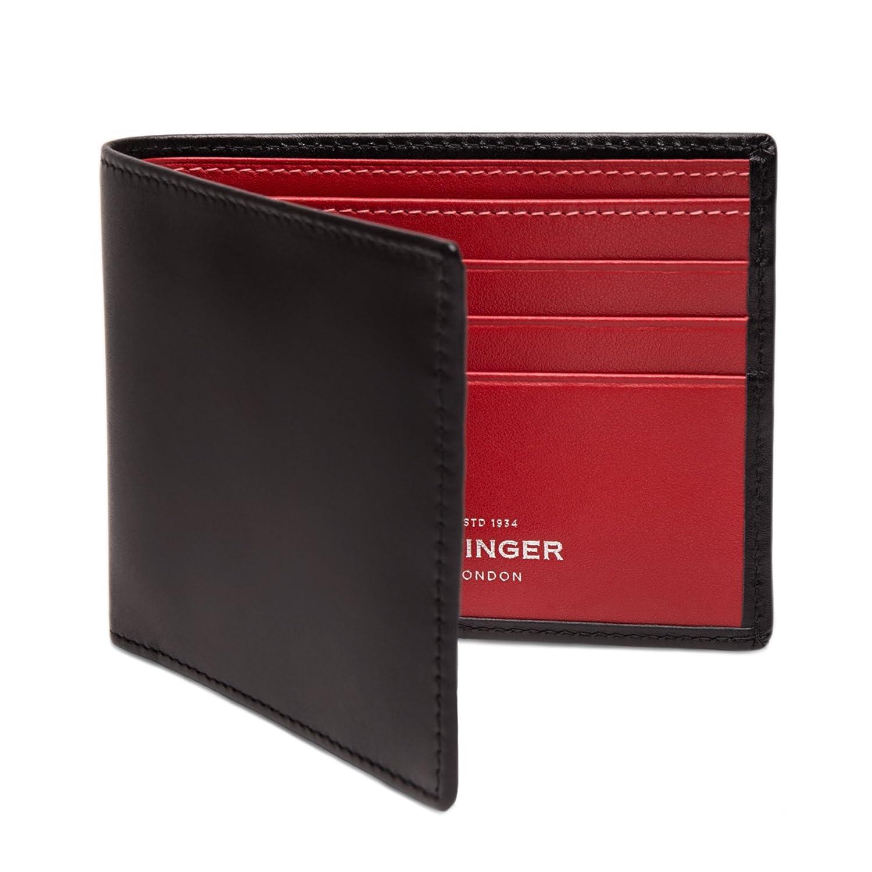 ETTINGER / エッティンガー レザービルフォールド ウォレット 二つ折り財布 ブラック/レッド(内側) B00EHIPUM4