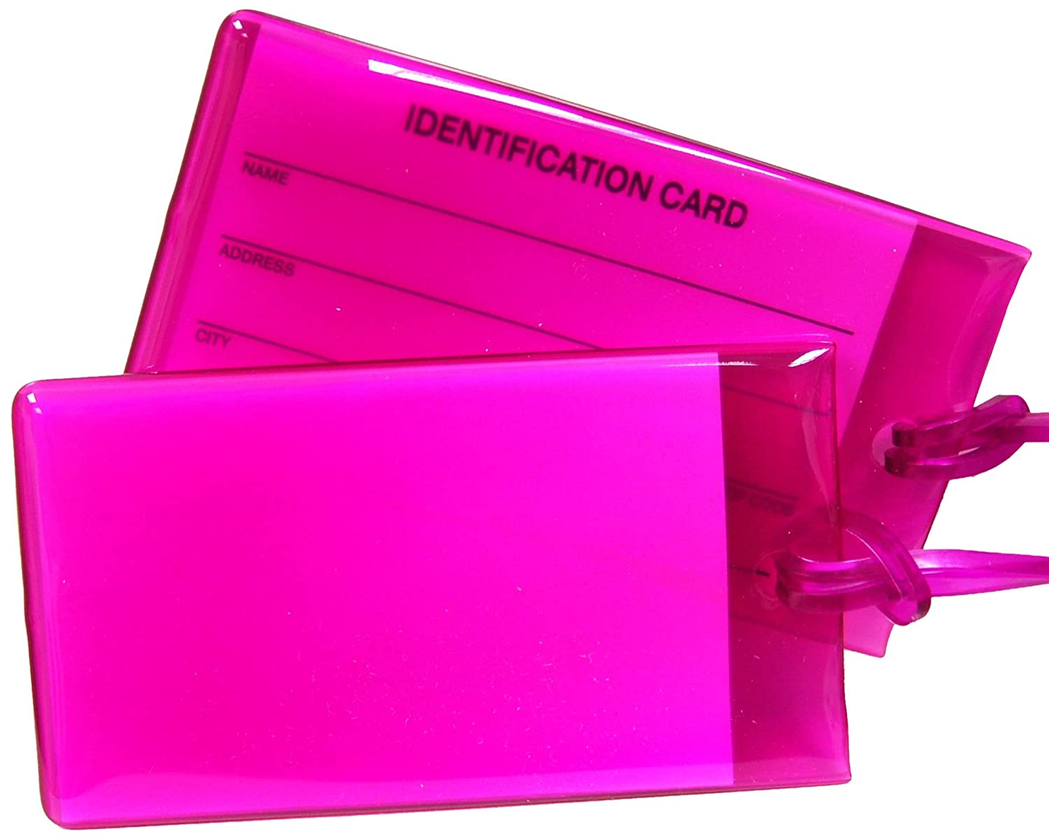 Magenta Travel Smart by Conair Jelly Luggage Tag Assortment 2 Pack