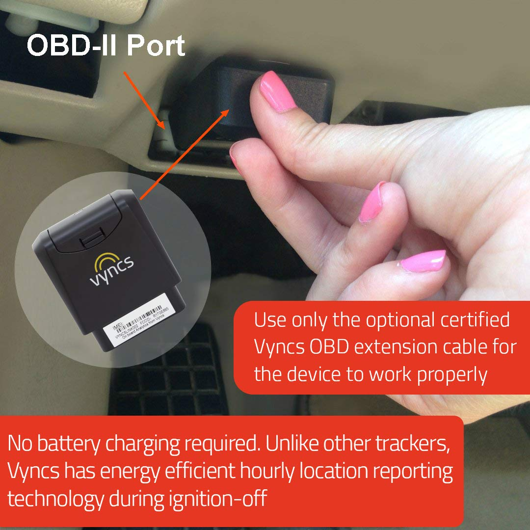 Vyncs OBD2 OBD-II Extension Cable for Valid 3G GPS Tracker Warranty