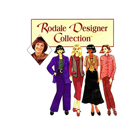 Amazon.com: Rodale Designer Collection Sewing Pattern Pants Vest T ...
