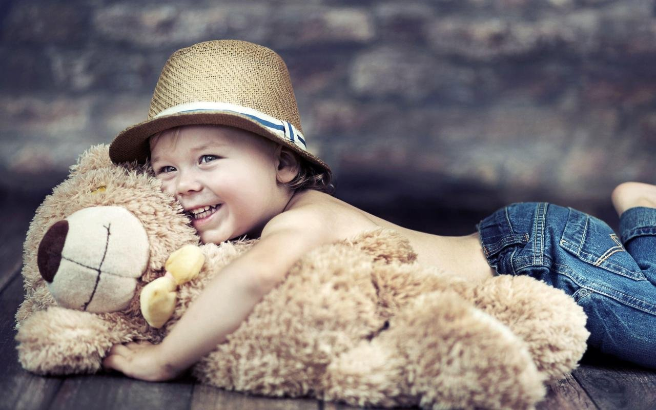 b8da39d429c Mntc Cute Baby Boy with teddy Poster (Paper Print, 31cm x 46 cm ...
