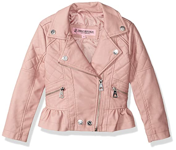Urban Republic Girls Distressed Pu Jacket