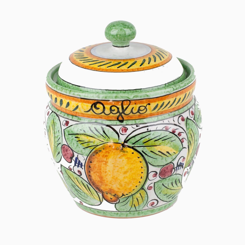 Handmade Frutta Mista Garlic Keeper From Italy by Umbria Frutta