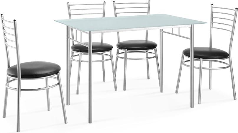 Ensemble Repas 1 Table 4 Chaises Swithome Pink Amazon Fr