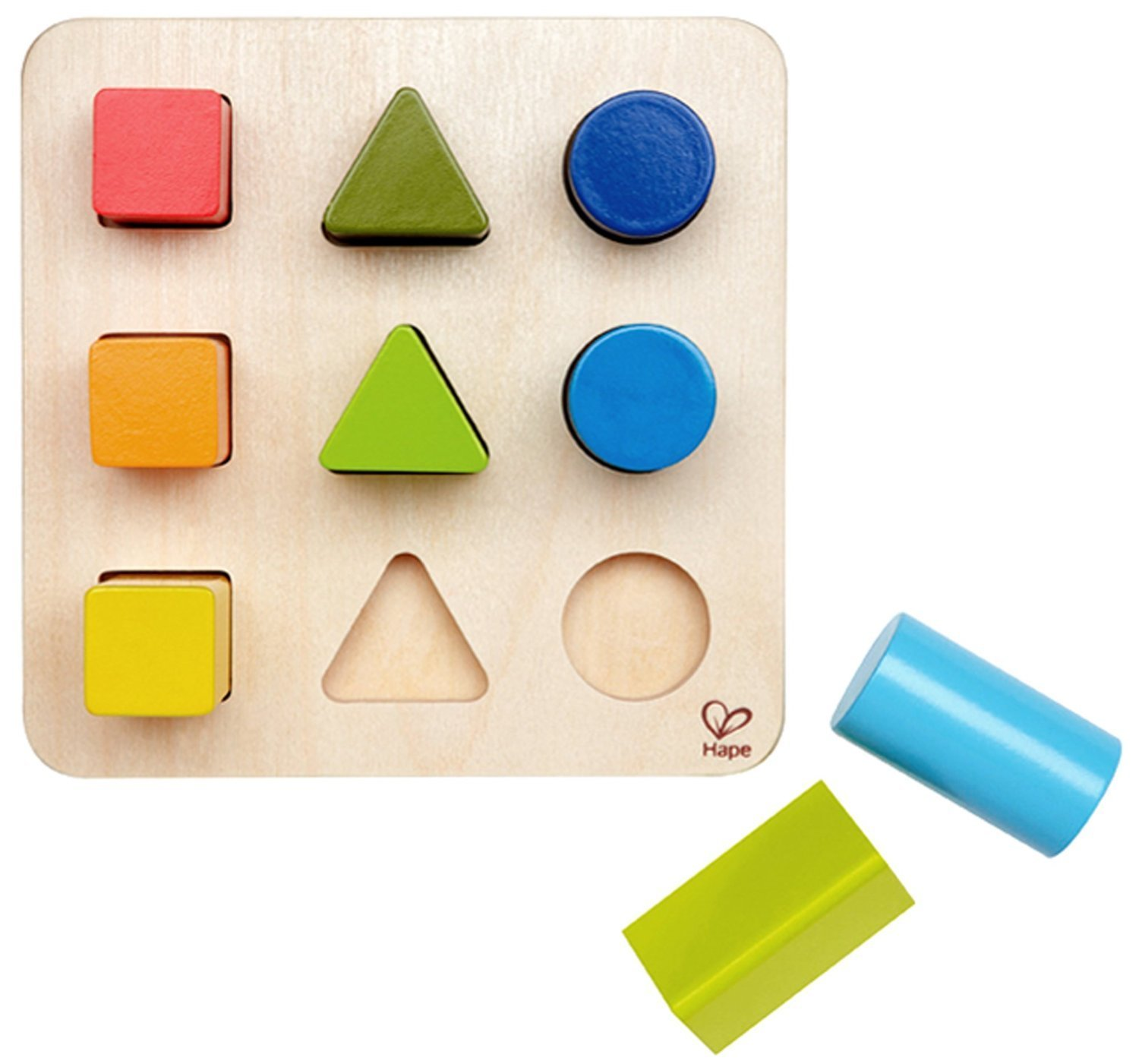 Amazon Hape Color and Shape Wooden Block Sorter Toys & Games