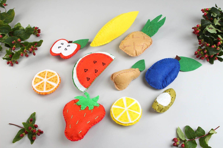 Juguetes de peluche hechos a mano frutas de fieltro regalo original para nino: Amazon.es: Juguetes y juegos