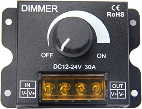 12-24V 20A 30A 2CH LED Switch Dimmer Controller 5050 3528 Single Color LED Strip
