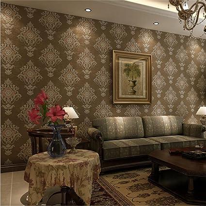 Amazon Com Hqw Wallpaper Non Woven Modern Simple Texture 3d