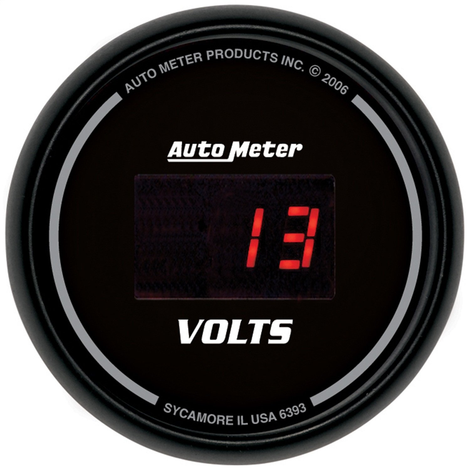 Auto Meter 6393 Sport Comp Digital 2-1/16'' 40408 Volts Digital Voltmeter by Auto Meter (Image #1)