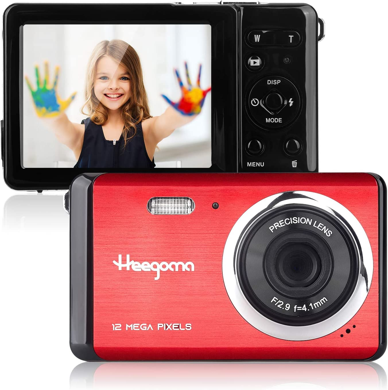 Mini Digital Camera, Heegomn 2.8 Inch Screen 8X Digital Zoom 12MP Rechargeable Digital Camera for Kids, Lightweight Pocket Camera Beginner Camera Point and Shoot Digital Camera