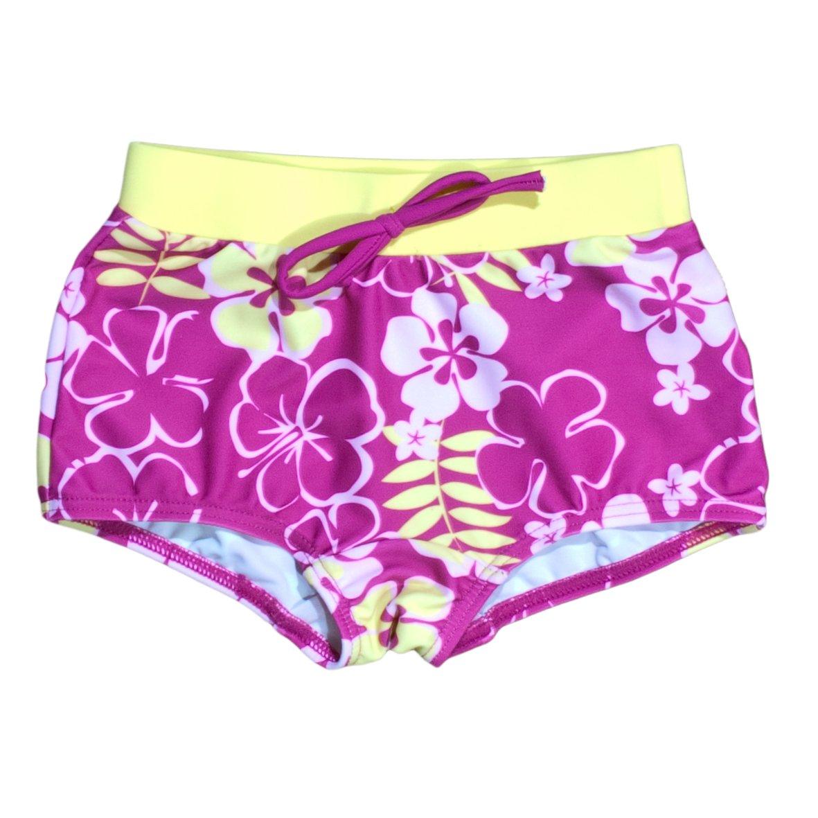 Baby Banz Girls 2-6X Boy Length UV Board Shorts, Sunblossom, 2 Years S13BL-SB-2