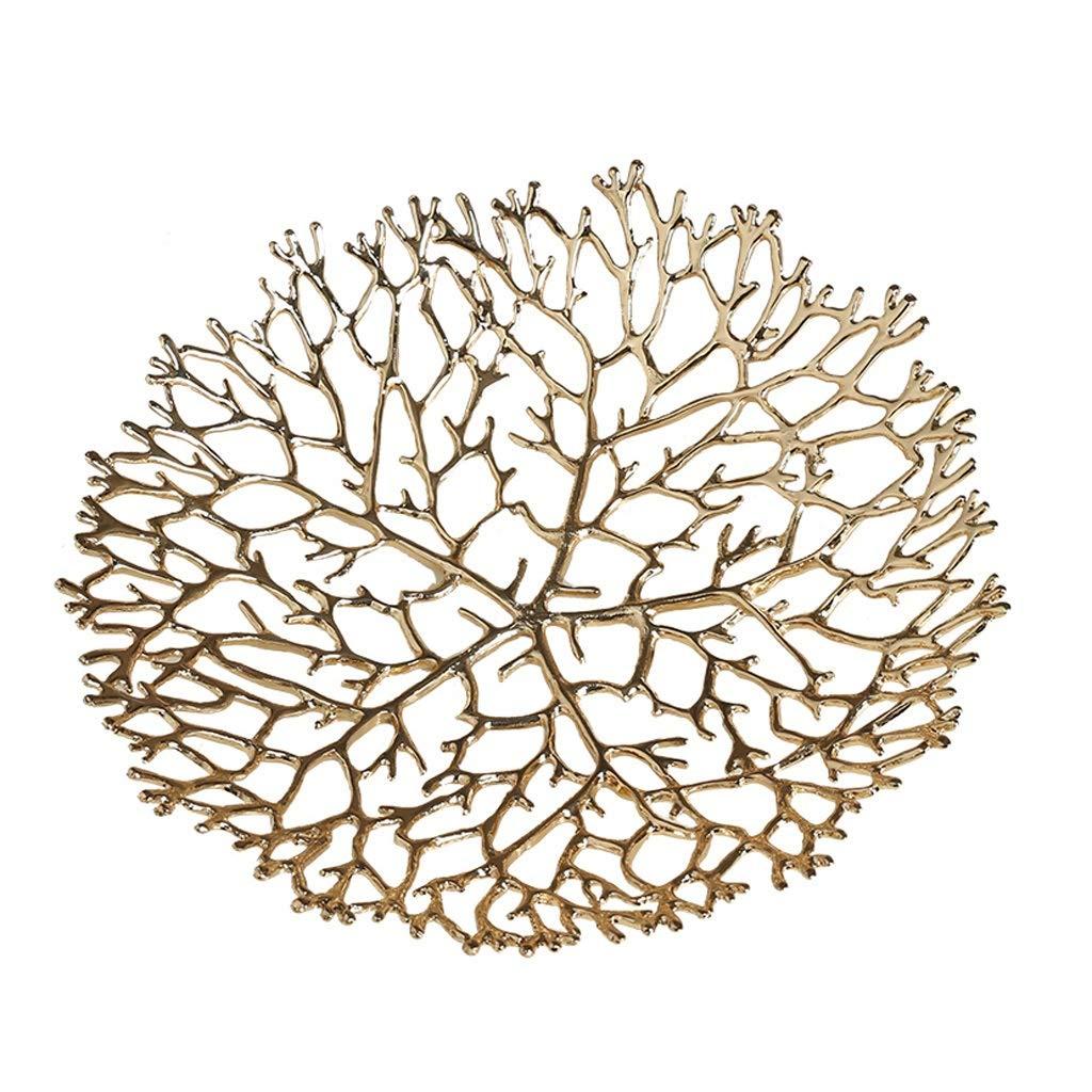 Sdvh フルーツボウル、銅ドライフルーツホルダーフルーツプレート透かし彫りディスプレイボウルフルーツスタンド家庭用リビングルームアート装飾 (サイズ さいず : 23センチメートル) 23センチメートル  B07QDW57X7