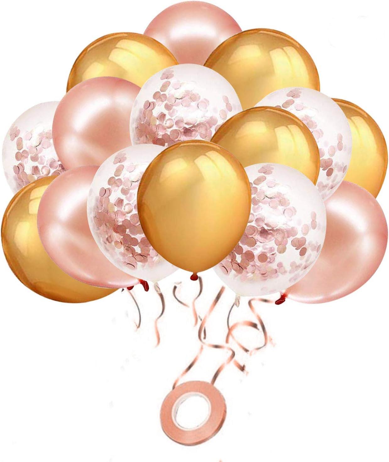 "12/""10color foil confetti latex balloon helium wedding birthday party decor hot√"