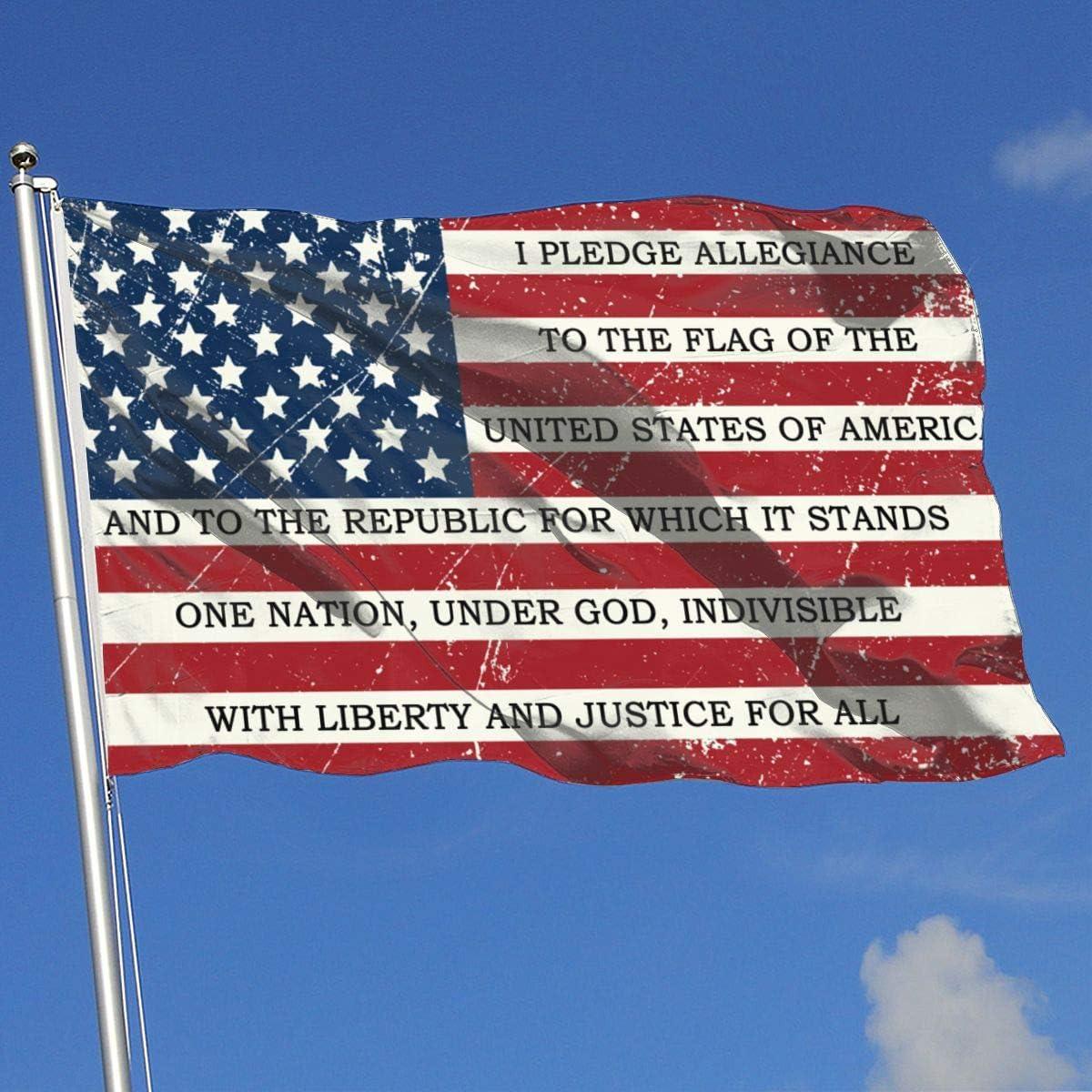 Jpnvxie American Flag Pledge of Allegiance Biden 2020 Flags 3X5 Ft Flag for Outdoor Indoor Home Decor Garden Decoration