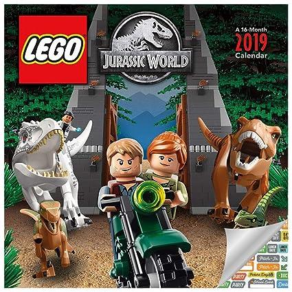 2019 lego jurassic world wall calendar