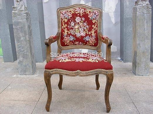 YUJINMAOYI Estilo butaca Antigua Louis XV Tapiz uñas esculpidas ...