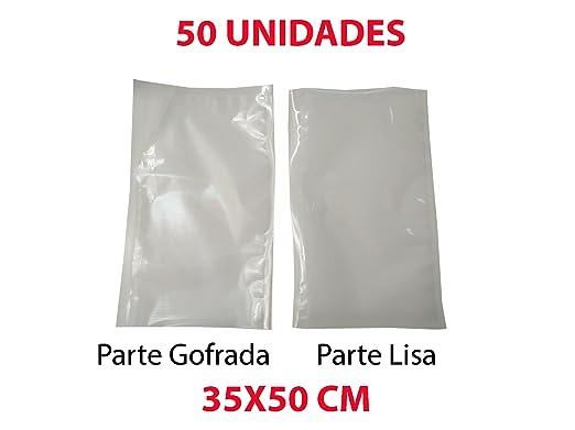 50X Bolsa Gofrada de envasado al Vacio 35X50 cm: Amazon.es ...