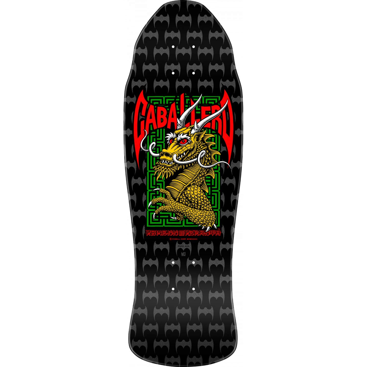 Powell-Peralta Skateboard Deck Caballero Cab Street Bats Dragon Black RE-Issue
