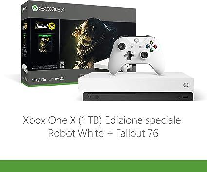 Xbox One X Robotwhite Spec.ed.+Fallout76: Amazon.es: Videojuegos