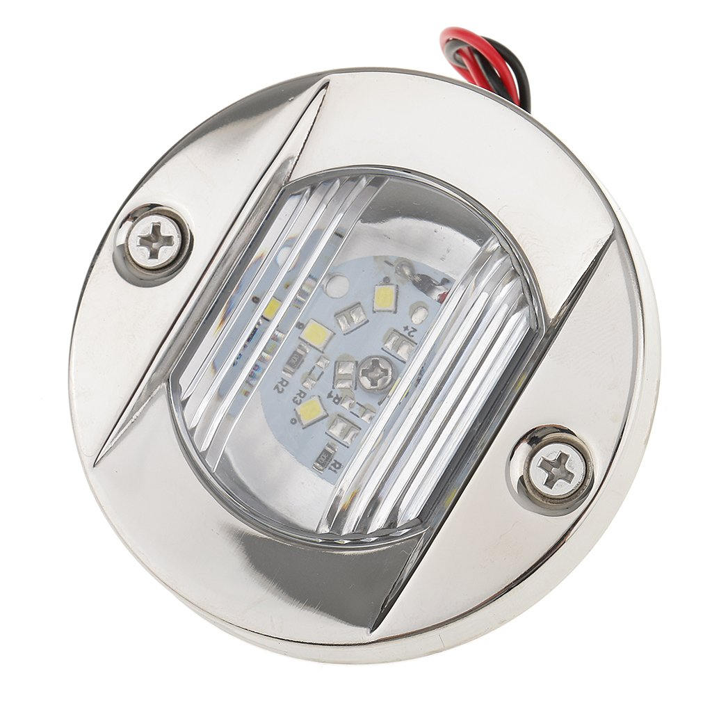 MonkeyJack LED Stainless Steel Stern Cockpit Transom Boat Navigation Light Bulb for Yacht/Marine IP66