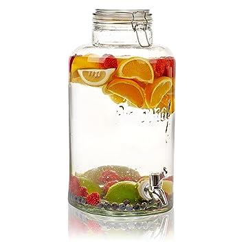 8 Liter großer Krug Drink Getränke-Spender mit Hahn & Deckel ...