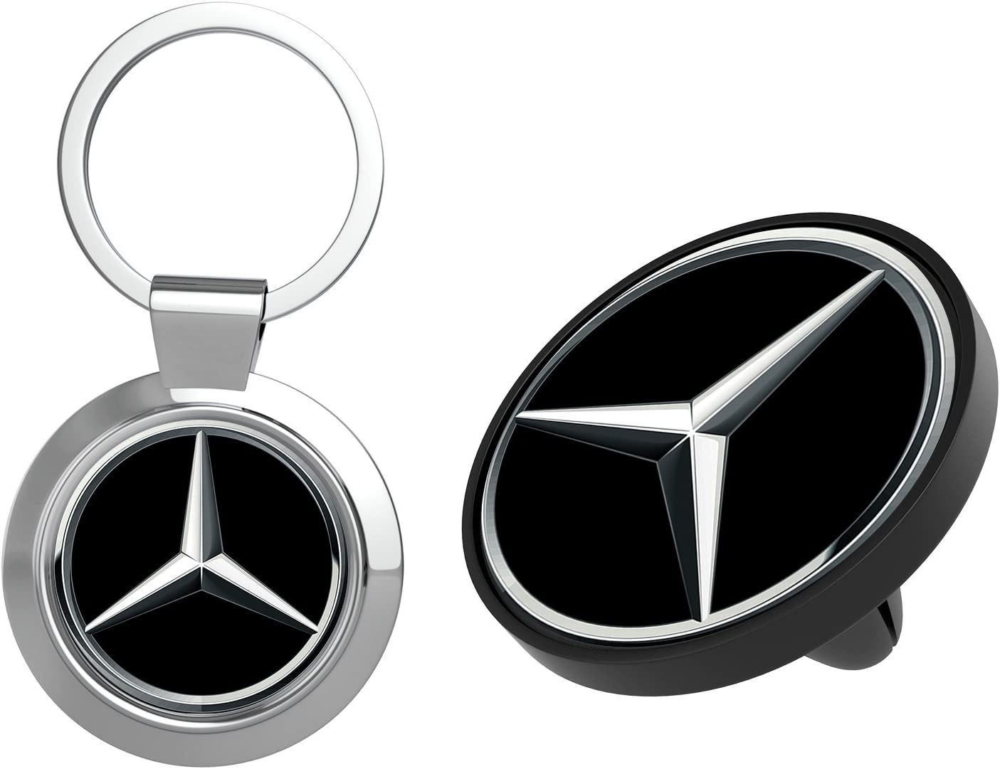 Universal Air Vent Car Cell Phone Holder and Key Chain 2 Pack Samsung Galaxy Magnetic Phone Car Mount Nexus and More Compatible with iPhone X//8//8 Plus//7//7 Plus//6s Plus Mercedes Benz LG