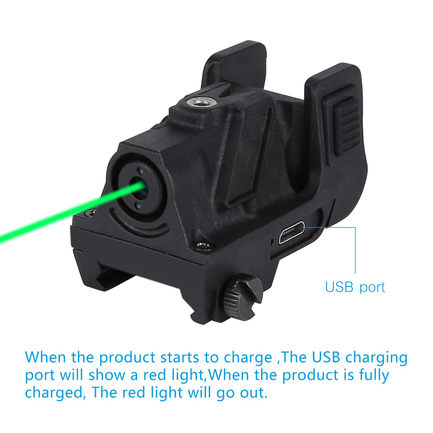 QR-Laser 03G(TM) Subcompact Green Dot Laser Sight with 20mm Rail Picatinny for Pistol,Handgun,etc. by QR-Laser
