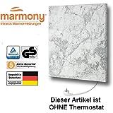Marmony M500-0066 Carrara ohne Thermostat Marmor Infrarot-Heizung inkl. Montagematerial, steckerfertig zum Aufhängen
