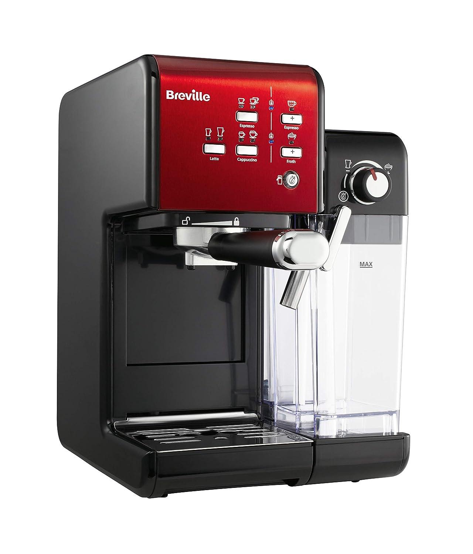 Breville vcf109 X de 01 prima Latte II Cafetera Eléctrica, color rojo: Amazon.es: Hogar