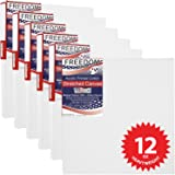 US Art Supply 8 x 8 inch Professional Quality Acid Free Stretched Canvas 6-Pack - 3/4 Profile 12 Ounce Primed Gesso - (1 Full Case of 6 Single Canvases)