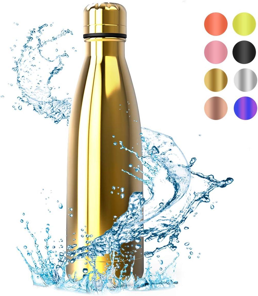 Termo de Vac/ío T/érmico Termica Beber Libre de BPA para Deportiva Gimnasio Monta/ñismo Festnight Botella Agua Acero Inoxidable 500 ML