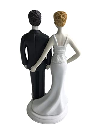 Loving Pinch Bridal Couple Bride And Groom Figurine Wedding Cake Topper The Love Pinch Unique And Funny Amazon Com Grocery Gourmet Food