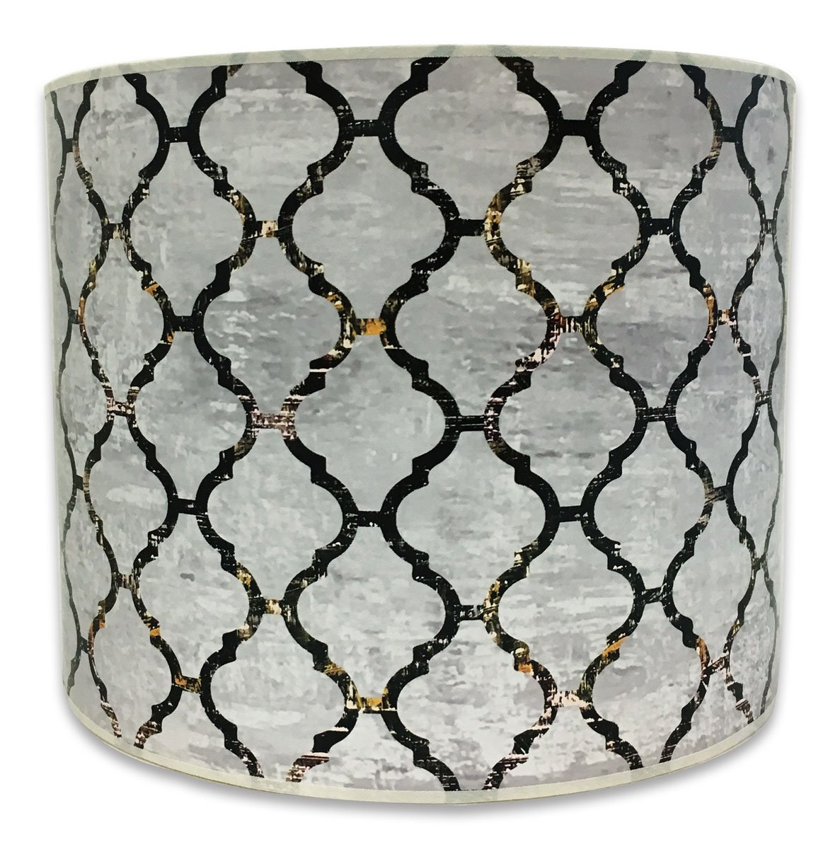 Royal Designs Modern Trendy Decorative Handmade Lamp Shade - Made in USA - Moroccan Tile Textured Design -10 x 10 x 8 by Royal Designs, Inc