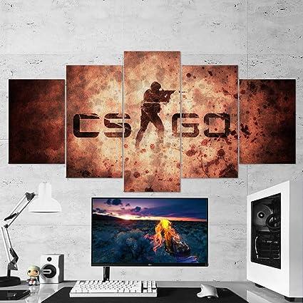 Amazon com: CSGO Logo Canvas Wall Art, Counter Strike Global