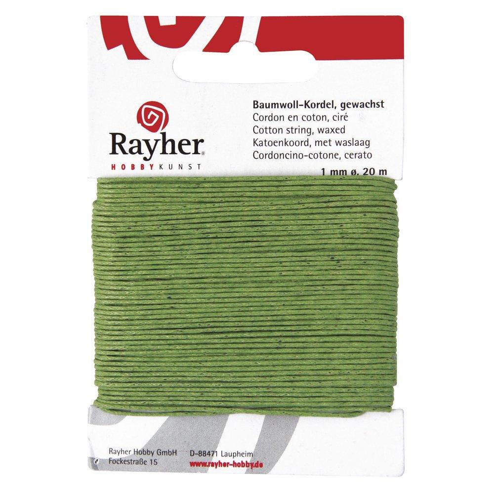 orange gewachst SB-Karte 20 m Rayher 5169134 Baumwollkordel 1mm