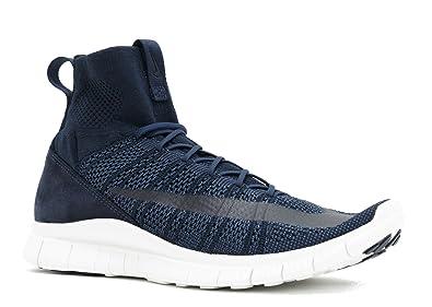 Nike Men's Free Flyknit Mercurial, DARK OBSIDIAN/SQDRN BLUE-SUMMIT WHITE,  8.5